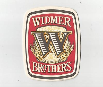 """Widmer Brothers  Beer Mat 4"""" x 3"""" Portland Microbrewery Drink Coaster EX cond."""