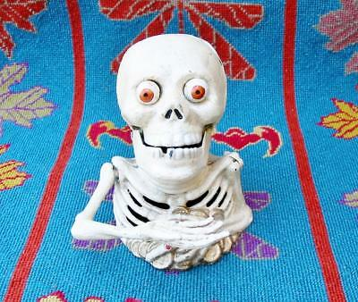 New Halloween Skull Skeleton Creepy Cast Iron Mechanical - Mechanical Halloween Decorations