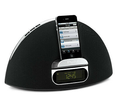 Pure Contour 100Di DAB Digital FM Radio 30 Pin Docking Station Speaker iPhone 4