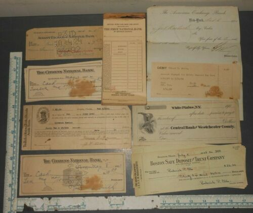 ANTIQUE WESTCHESTER/CITIZENS ALBANY/AMERICAN EXCHANGE NATIONAL BANK NEW YORK LOT