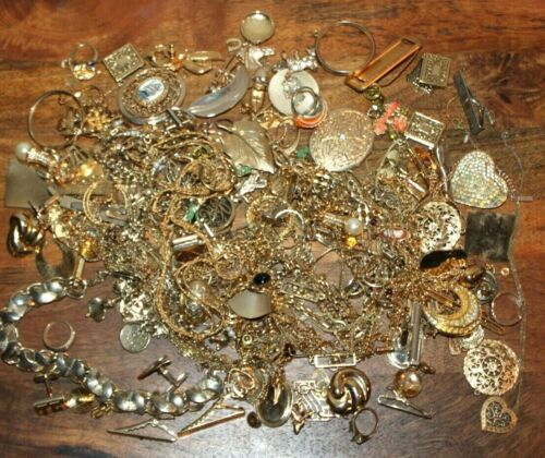 2lb 5oz Gold Plated Scrap Jewelry Refine or Wear