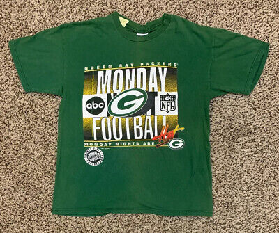 VTG 1994 Green Bay Packers Monday Night's Hot Football Mens L Shirt NFL ABC 25th image