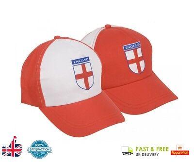 596040b1f57 ENGLAND BASEBALL CAP Hat Football World Cup Rugby Mens Boys Ladies Fancy  Dress