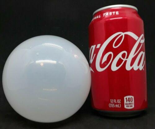 Hand Blown Pontil Punty Mark Opalescent Glass Ball Fish Net Float 3.75 d 12.5 c