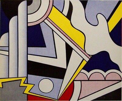 """ROY LICHTENSTEIN vintage mounted repro print,1967, Pop Art, 12 x 10"""" RL47"""
