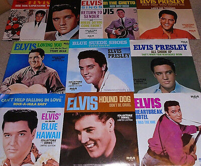 *<* WOW! UNOPENED 1977 BOX SET of 10 UNPLAYED MINT ELVIS HIT 45s w/PIC SLEEVES!!