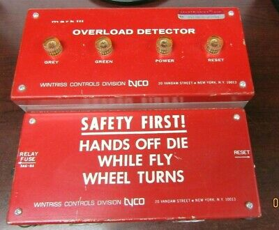 Wintriss Controls Press Overload Protector Mark Iii Tyco Sensor Vtg