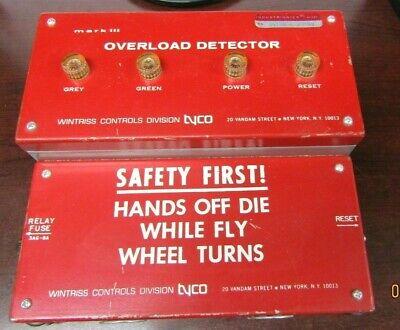 Wintriss Controls Press Overload Protector Mark Iii Tyco Sensor Vtg