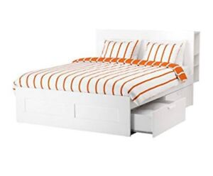 Ikea Queen size Bed frame with storage & headboard