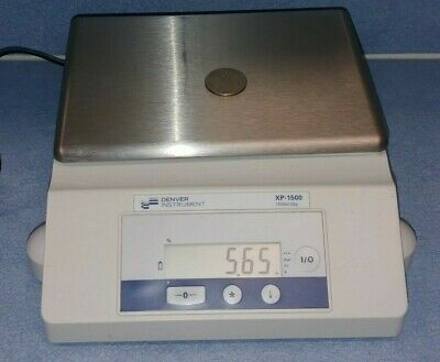 Denver Instrument Xp-1500 1500x0.05g Electronic Lab Scale Balance W Ac Adapter