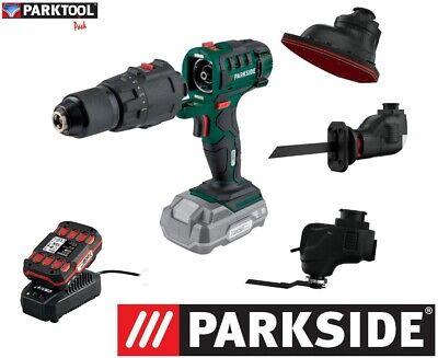 PARKSIDE 4 en 1 PKGA 20-Li C2 +20V 2Ah Taladro, destornillador, lijadora, sierra