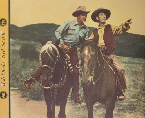 Bob Steele Syd Saylor 1946 TV Cowboy Dixie Cup Ice Cream Photo Premium Original