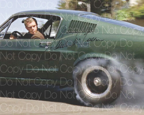 Steve McQueen signed Bullitt Papillion 8X10 photo picture poster autograph RP