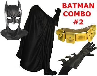 BATMAN The Dark Knight Rises costume mask, cape, gloves, yellow utility belt (Kostüm Utility Belt)