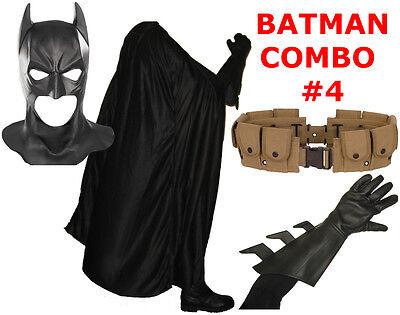 BATMAN The Dark Knight Rises costume cowl, cape, gloves, REAL brown utility (Kostüm Utility Belt)