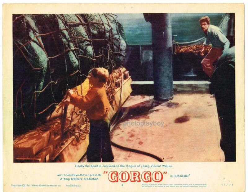 GORGO BILL TRAVERS VINCENT WINTERS MONSTER HORROR SCIFI MOVIE LOBBY CARD #4 1961