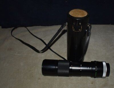 BEST! CANON FD 100-200mm F5.6 ZOOM CAMERA LENS - MANUAL FOCUS W/LEATHER