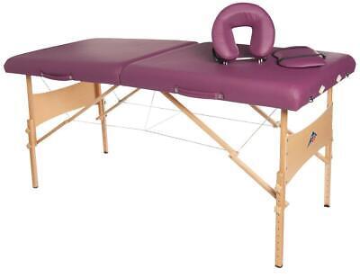 3B Scientific Tragbare Komfort-Massageliege Massagetisch aus Holz Burgund