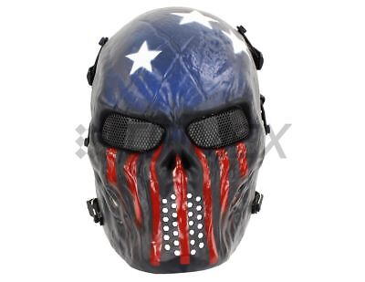 - Airsoft Paintball Tactical Full Face Mask Combat Skull Skeleton Game Protect USA