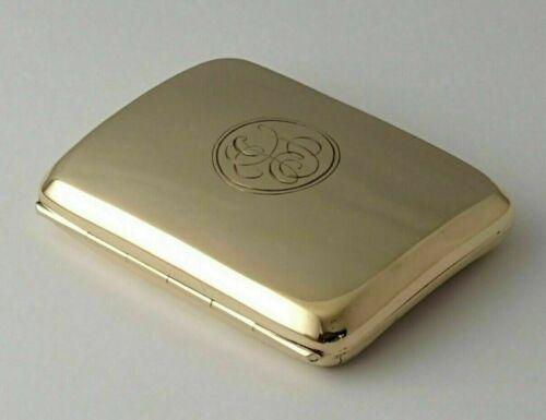Antique 9ct Gold Cigarette Case - 66g - Birm. 1919.