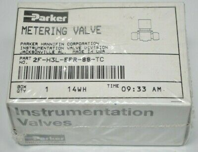 New Sealed Parker Hr Stainless Steel Precision Metering Valve 2f-h3l-epr-ss-tc