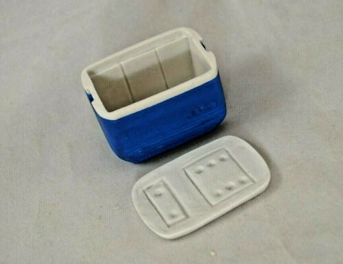 Cooler - Blue - dollhouse miniature 1/12 scale A3108BL plastic resin