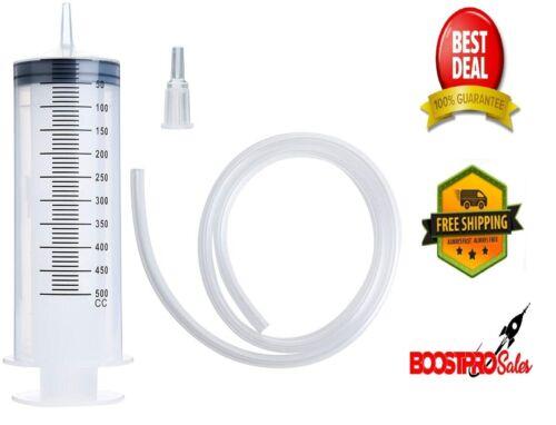 500ml Extra Large Plastic Syringe w/Tube Tubing for Glue Dispensing Scientific