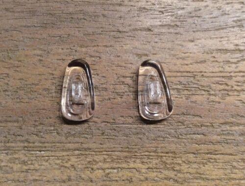 2 x Nasenpads weiches Silikon-Klar Glas Brillen Nasenstege Klicksystem Nr. 4