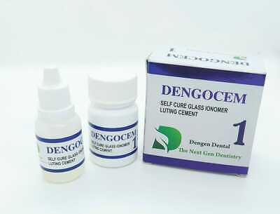 Permanent Glass Ionomer Dental Cement Crown Bridge Veneer Cure Luting Adhesive