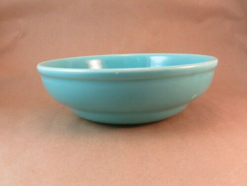 """Franciscan Pottery Turquoise Blue Vegetable Bowl  ~8"""" """"Footed"""" El Patio?"""