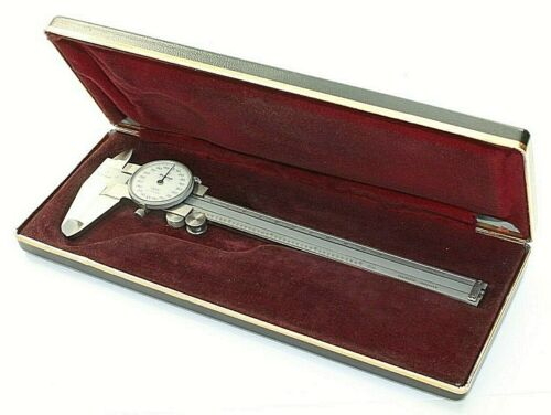 "Vintage Mitutoyo 505-626 Dial Caliper 6"" Japan w/Case Stainless Machinist Tool"