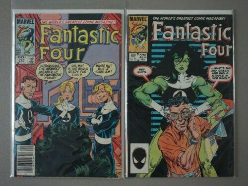 Fantastic Four #265 & #275 Marvel She-Hulk KEYs direct and newsstand HOT