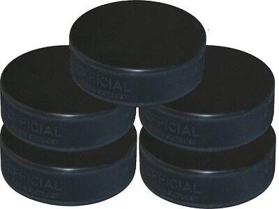 Pack Of 5 Ice Hockey Pucks - Black