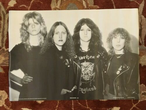 GIRLSCHOOL  1981 commercial poster