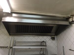 6ft Hood with Exhaust Fan and Fire Suppression System