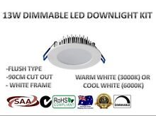 13W LED DOWNLIGHT KIT WHOLESALE WHITE FRAME WARM /DAYLIGHT WHITE Sydney City Inner Sydney Preview