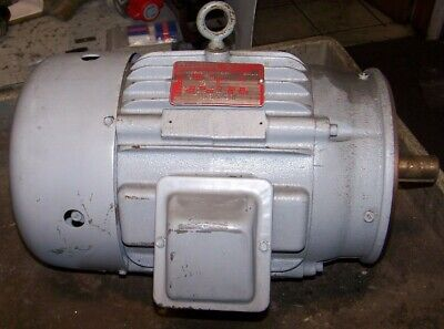 New Delco 5 Hp Electric Ac Motor 460 Vac 1755 Rpm 215c Frame 3 Phase 1-18 Dia