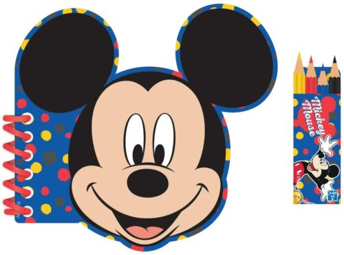 Disney+Mickey+Mouse+Designed+Themed+Activity+Book+Coloured+Pencils+Set