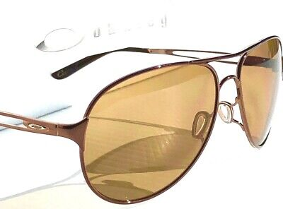 NEW* Oakley CAVEAT Brunette POLARIZED Bronz Womens 60mm Aviator Sunglass 4054-05](Brunette Sunglasses)