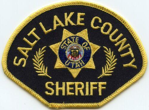 SALT LAKE COUNTY UTAH UT Black Background SHERIFF POLICE PATCH