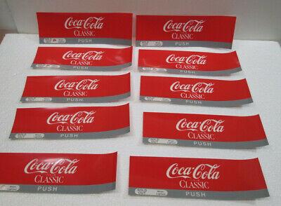 10 Original Vintage Cocacola Vending Machine Selection Inserts 7x214 Never Use