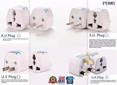 US/UK/AU/EU Universal Adapter to EU/UK/AU/US AC Power Plug Travel Converter PH07