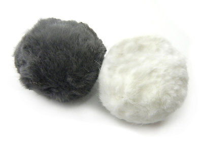 Rabbit Fur Rattle Ball Cat Toy - 2 Pak