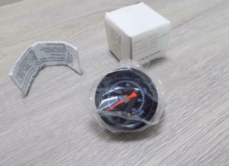 """Ametek P530154 1 1/2"""" 60 PSI Air Pressure Gauge 1/8"""" NPT"""