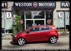 2013 Chevrolet Sonic LT*POWER GROUP*BTOOTH*ACCIDENT FREE*A MUST