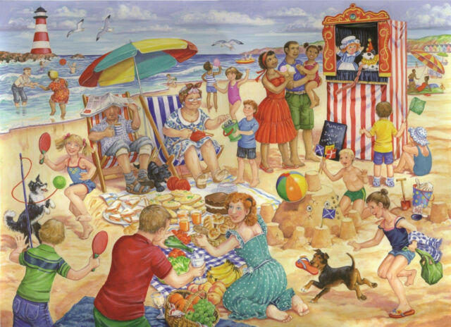The House Of Puzzles  250 BIG PIECE JIGSAW PUZZLE Trip To The Seaside Big Pieces