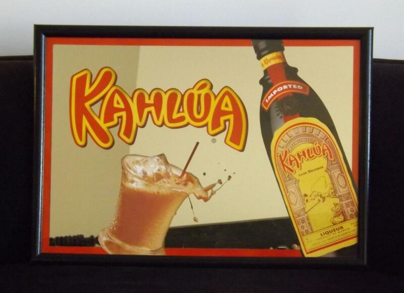 "Kahlua Bar Mirror Sign 28""x20"" EXC"