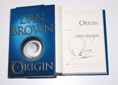 Author Dan Brown Signed Origin First 1St Edition Hardcover Book Novel W Coa Hc