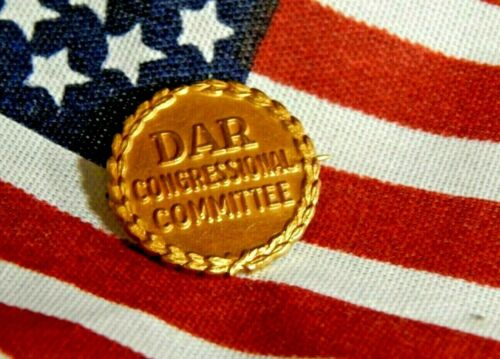 DAR Daughters of the American Revolution Congressional Committee Pin JE Caldwell