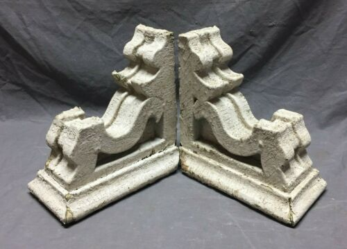 Pair Antique Roof Corbels Shelf Brackets Shabby Vintage Chic 290-19C